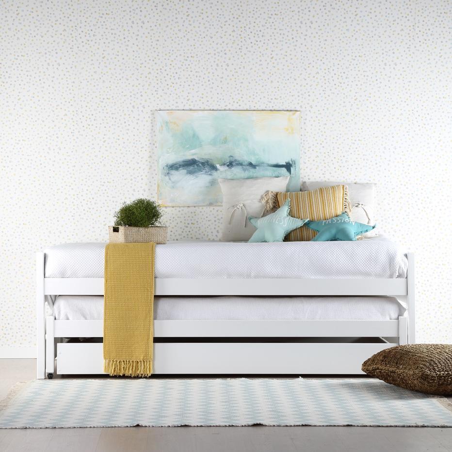 Eyre cama nido blanca con banak importa for Dimensiones cama nido