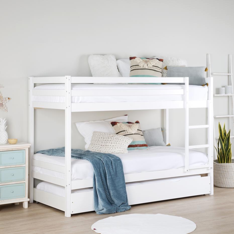 Kivu litera blanca con cama banak importa Cama nido doble carrefour