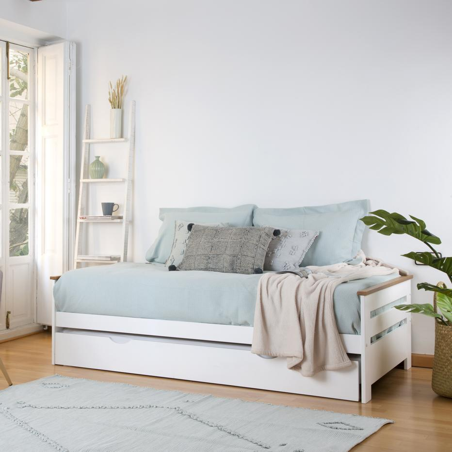 Patry white trundle bed