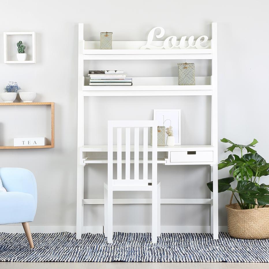 Bassay white desk 120