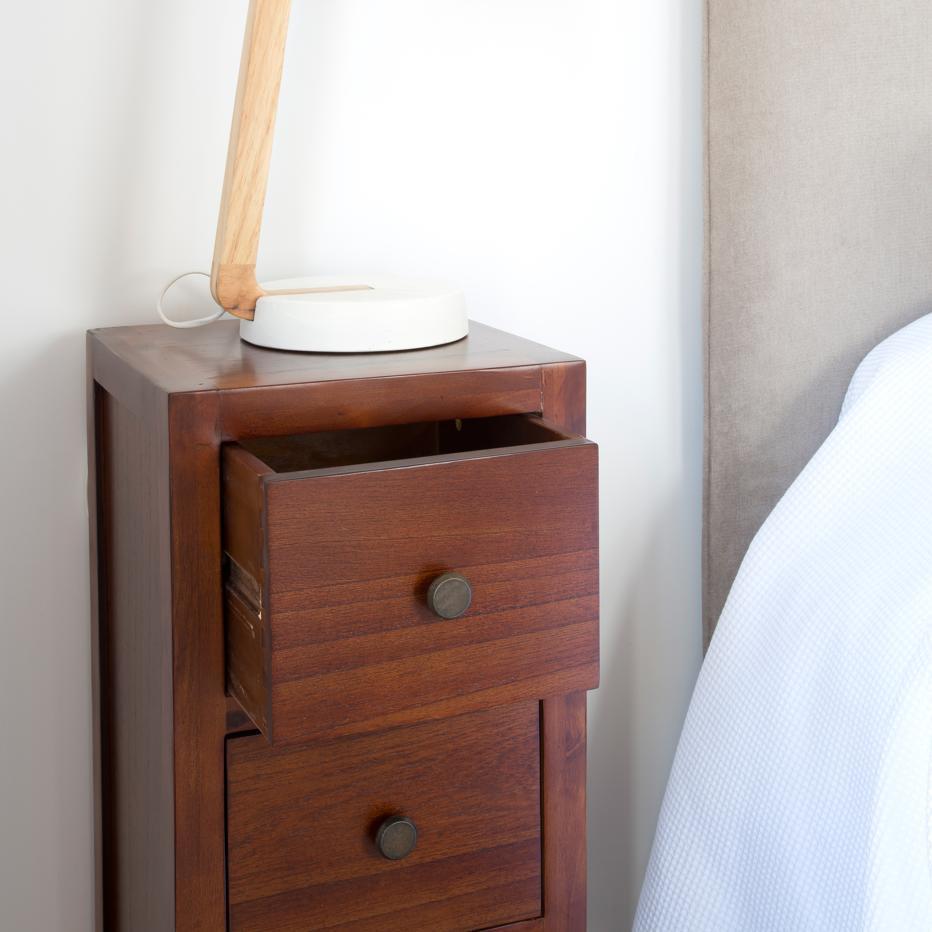 khai chevet troite teck banak importa. Black Bedroom Furniture Sets. Home Design Ideas
