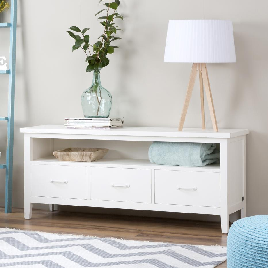 Sintra mueble tv blanco banak importa for Lacar muebles en blanco a pistola