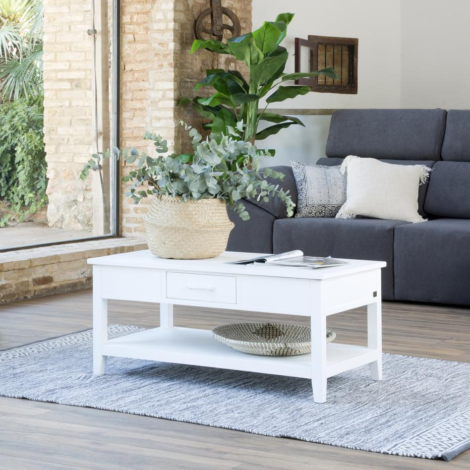 Amelia liftable white coffee table