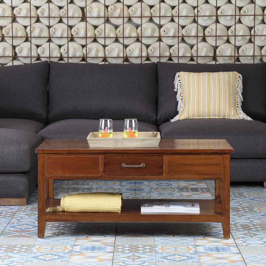 Amelia teak lift top coffee table