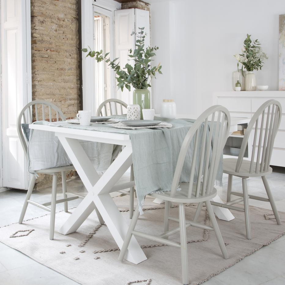 Naish extendible white dining table 150/200