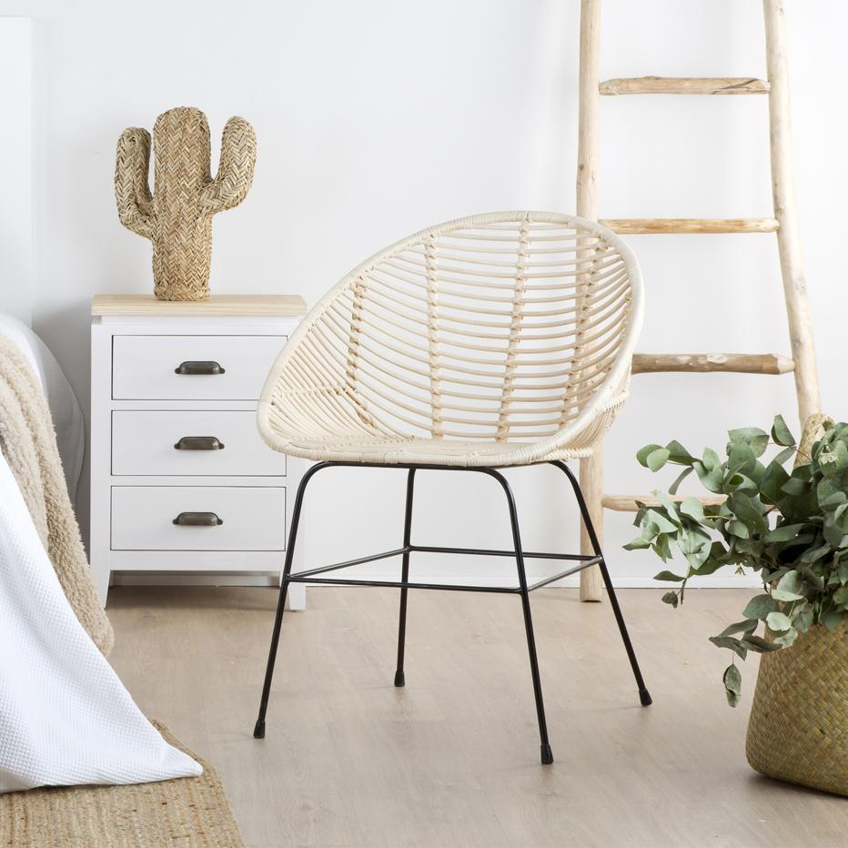 Ally natural rattan chair