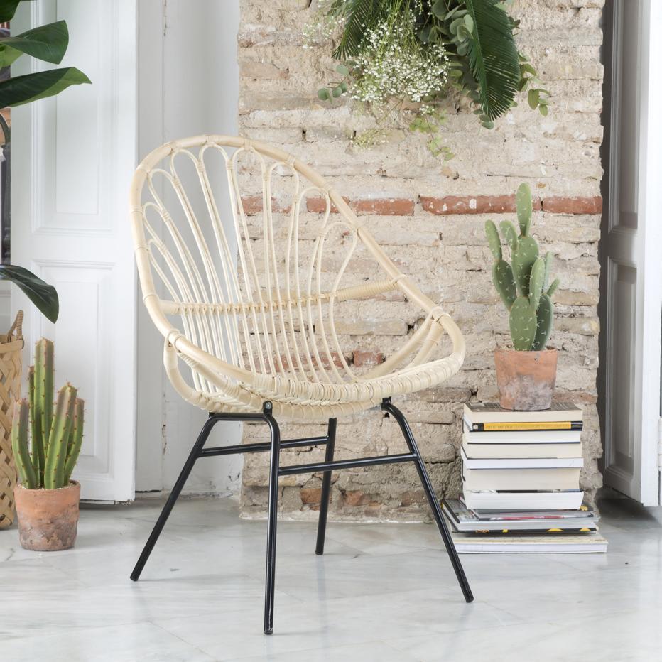 Adis natural ratan armchair