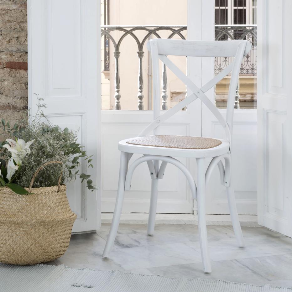 Bihar chaise blanc wash