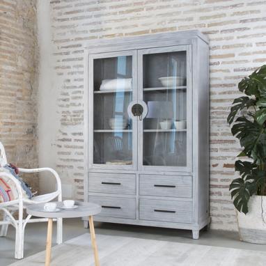 Akira double glass cabinet