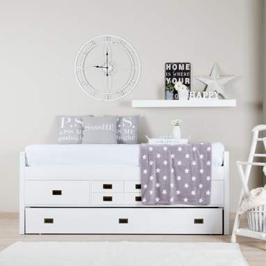 Nepal trundle bed w/ drawers