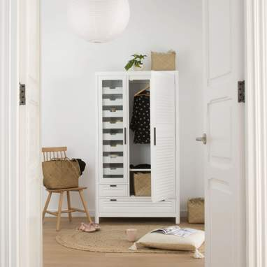 Brunei armoire individuel blanc