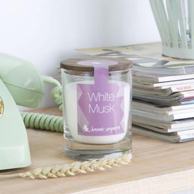 Candle premium white musk
