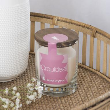 Candle premium orchid