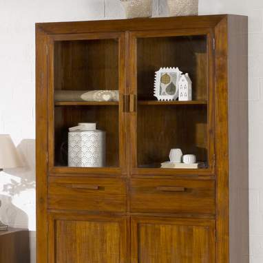 Bantul double glass cabinet