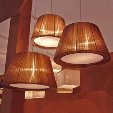Organza lámpara techo oval