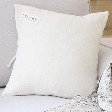 Lenom white cushion 45x45