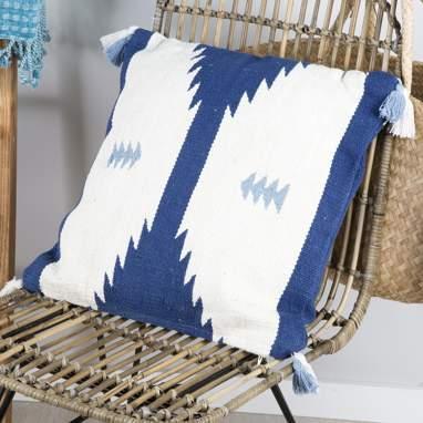 Hizal coussin 45x45 bleu