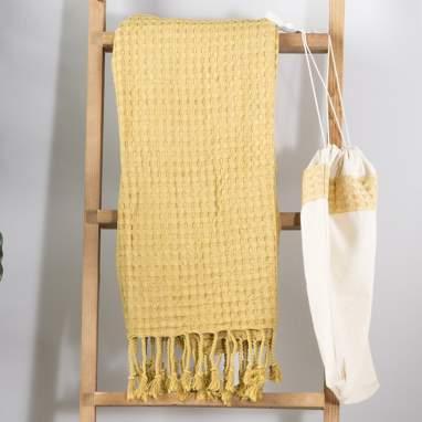 Holu asciugamano mare 100x180 senape