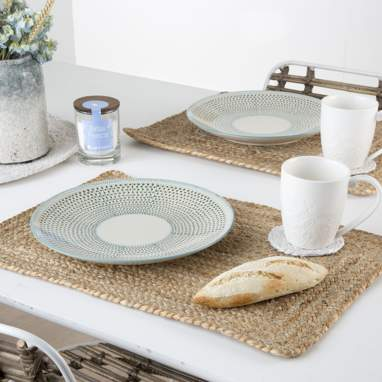 Quiel natural single tablecloth