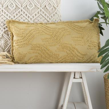 Alis mustard cushion