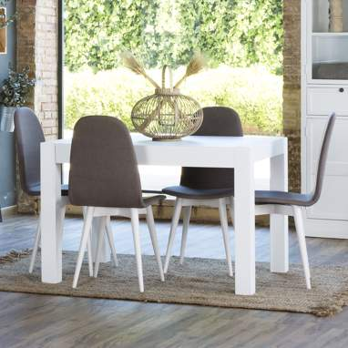 Alba white extendible table 120/170