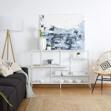 Oslo white shelf 130