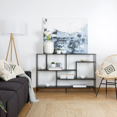 Oslo black shelf 130