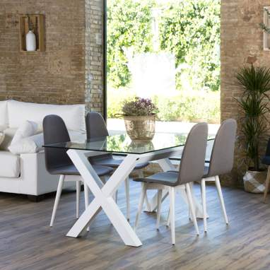 Gauss base table  blanche (cristal non inclus)