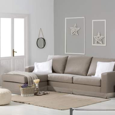 Nadine sofá tecido c/saia