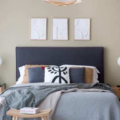 Achio tête de lit tapissé
