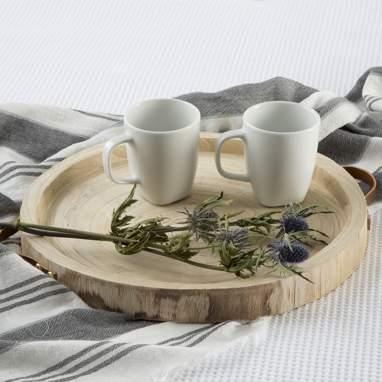 Dume centro de mesa madeira natural c/ pegas