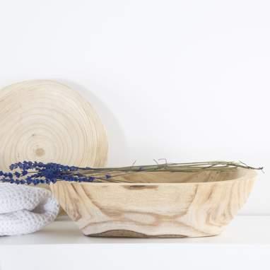 Leko centro de mesa madeira natural