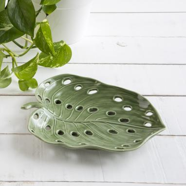 Esva green porcelain tray