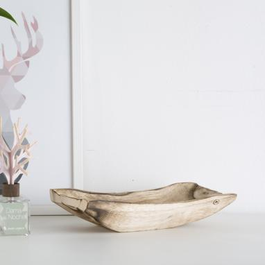 Anusk natural wood centerpiece
