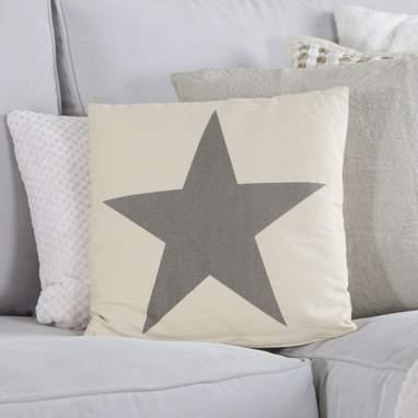 Rude almofada branco estrela