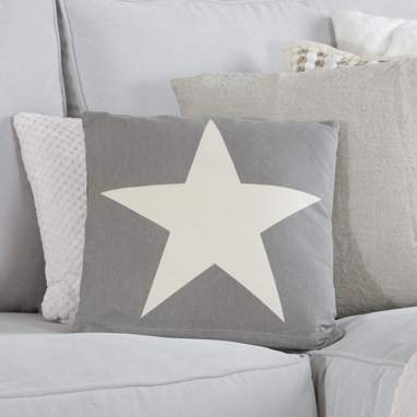 Rude almofada cinza estrela