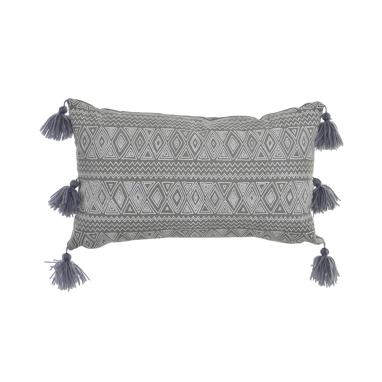Esop grey border cushion