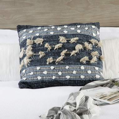 Jins blue embroidery cotton cushion