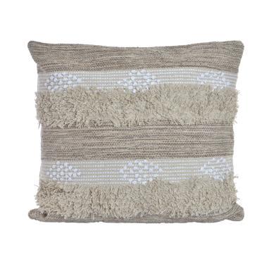 Gues white pompon cushion