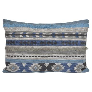 Fisi blue cotton cushion