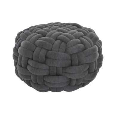 Ovil grey plaited cushion floor