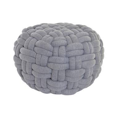 Ovil light grey pouf