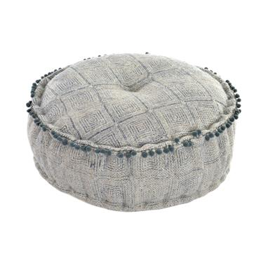 Saen cotton woll pompom cushion pouf