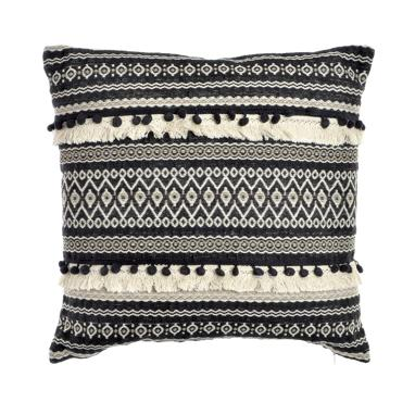 Tien black fringes cushion