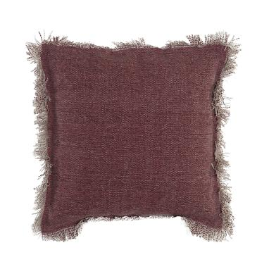 Cork carnet fringes cushion