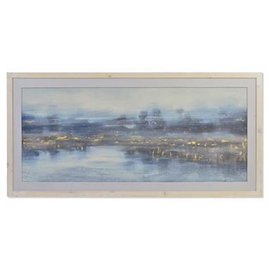 Modik cuadro cemento 150x70  paisaje pintado mano