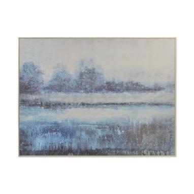 Luka cuadro cemento 120x90 paisaje pintado mano