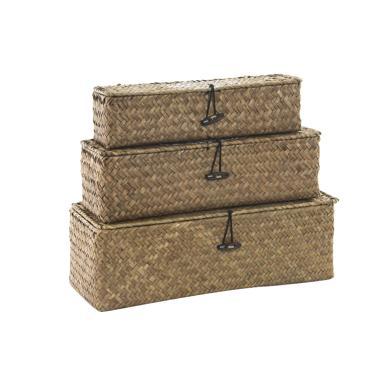 Gove set 3 cestas fibra 33x12x11 ecolife natural