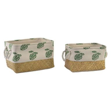 Trum set 2 fibre tropical baskets