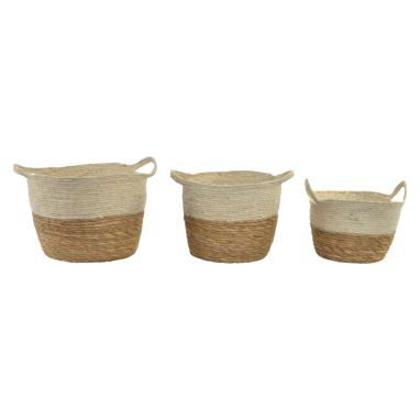 Laryk set 3 fibre with handles baskets